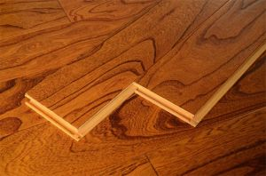 Dark Brown Multi-Layer Solid Wood Flooring pictures & photos