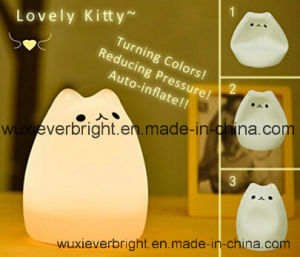 Eco-Friendly LED Silicone Night Light with USB Recharge