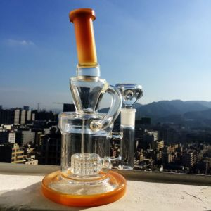New Design Headshop Hitman Oil Rig Straight Recycler Colorfull Glass Water Smoking Pipe pictures & photos