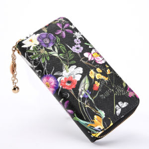 Attractive Flower Printed Fabric Purse Wallet for Lady Women pictures & photos