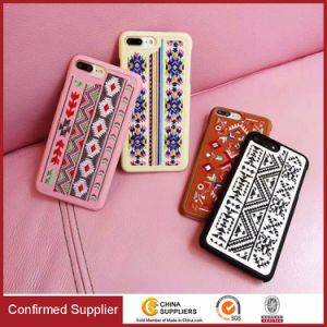 2017 New Embroidery Leather Coating PC Case for Smartphone pictures & photos