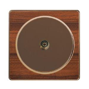 British Standard Wood-Textured Exquisite 1 Gang TV Socket pictures & photos