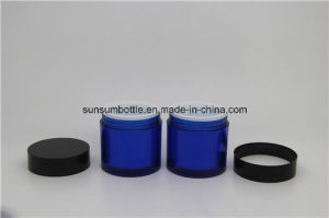 Blue Design Skin Care Pet Cream Jar with Plastic Packaging pictures & photos