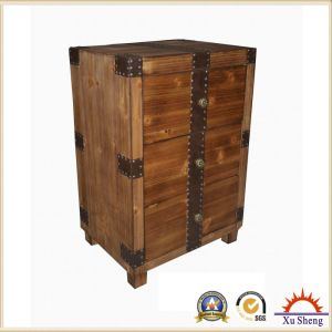 Accent 3-Drawer Storage Cabinet in Natural Wood Finish pictures & photos
