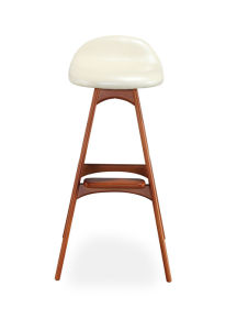 Solid Wood Seating Rustic Leather Barstool pictures & photos