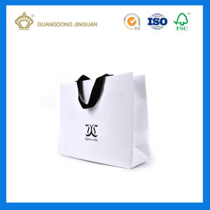 Customized Shopping Paper Bag for Clothes (Luxury White Matt Finishing) pictures & photos