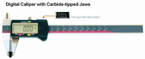 Digital Caliper with Carbide Tipped Jaws pictures & photos