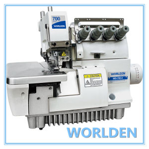 Wd-700-4 Super Four Thread High Speed Elastic Overlock Sewing Machine pictures & photos