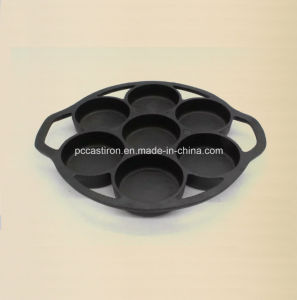 7PCS Preseasoned Cast Iron Cake Mold China Factory pictures & photos