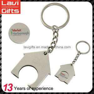 Custom Shopping Cart Metal Token Trolley Coin Holder Keychain pictures & photos