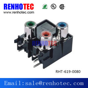 Audio Video Application RCA PCB Mount Female Jack Socket Connector pictures & photos