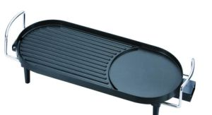Professional Free Standing Half Griddle and Half Grill