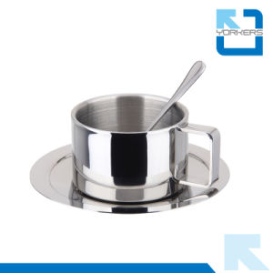 3 Pieces 304 Stainless Steel Metal Type Coffee Cup Set pictures & photos