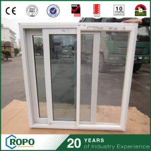 PVC Vinyl Horizontal Sliding Window Tinted Glass with Insect Screen pictures & photos