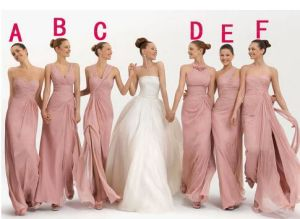 Chiffon Custom Color Multi-Style Convertible Long Bridesmaid Dresses pictures & photos