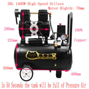 1400W 30L Oil Free Screw Air Compressor Oil Free Scroll Air Compressor pictures & photos