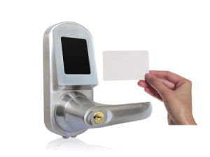 RFID Card Door Lock with Mobile Phone, Card, Mechanical Key, Support NFC for Option (UL-300NFC) pictures & photos