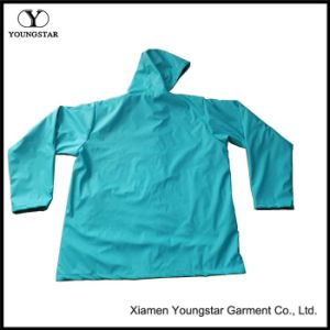 PU Knit Raincoat pictures & photos