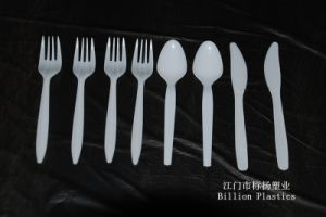 Food Grade PP Plastic Spoon Plastic Fork Plastic Cup FDA Test Pass pictures & photos