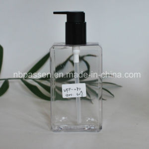 New 280ml PETG Clear Plastic Bottle with Black Lotion Pump for Body Care (PPC-NEW-120) pictures & photos