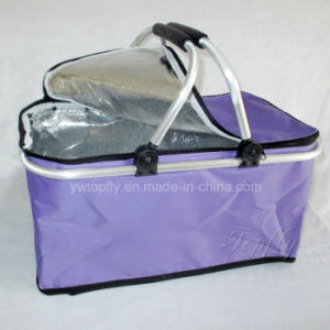 Wholesale Foldable Portable Cooler Basket Picnic Basket Shopping Basket pictures & photos