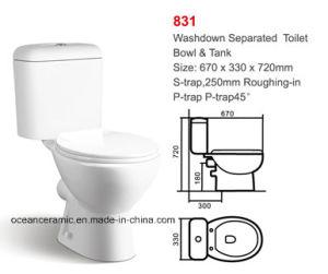 831 Water Closet Economic Washdown Two Piece Ceramic Toilet pictures & photos