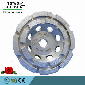 Double Row Diamond Cup Wheel for Concrete Grinding pictures & photos