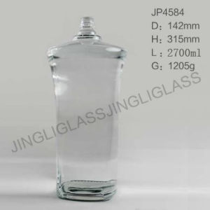 High Quality Large Clear Glass Wine Bottles pictures & photos