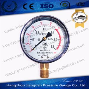 0.6MPa Vibration Proof Pressure Gauge with Dual Scale pictures & photos