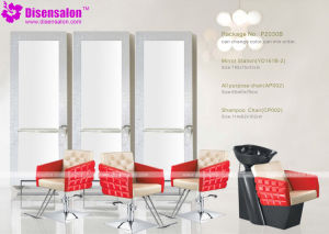Popular High Quality Salon Furniture Mirror Barber Salon Chair (P2030E) pictures & photos
