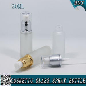 30ml Frosted Glass Bottle Lotion Pump Foundation Serum Bottle pictures & photos