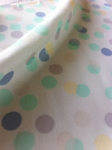 100% Polyester DOT Printing Chiffon Women Dress Fabric pictures & photos