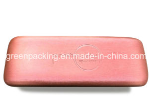 Eyeglasses Metal Case Wrapped Silk Leather in Custom Logo (SP11) pictures & photos