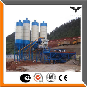 Bucket Material Feeding Hzs50 Concrete Mix Plant Cement Batching Plant with Additive Scale Supply pictures & photos