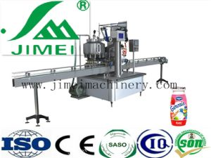 China Wholesale Fully Automatic PE Pet Bottle Filling and Aluminum Foil Sealing Machine with Milk Juice pictures & photos