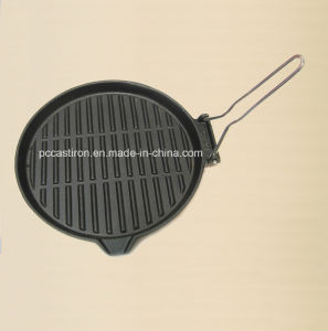 Square Preseasoned Cast Iron Skillet Size 24X24cm pictures & photos