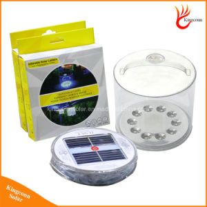 Portable Rechargeable Foldable Solar Camping Light 10 LED Inflatable Solar Lantern with LED Power Indicator Light pictures & photos