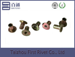 5X8mm Zinc Plated Flat Head Full Tubular Steel Rivet pictures & photos