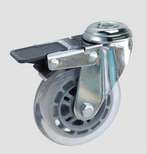 Industrial Caster Transparent Caster with Whole Brake pictures & photos