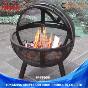 Promotional Cast Iron Dome Circle Outdoor Fire Pit for BBQ pictures & photos