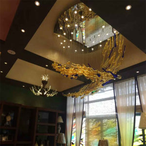 Modern Decorative Glass Stainless Steel Fish Shape Pendant Lamp pictures & photos