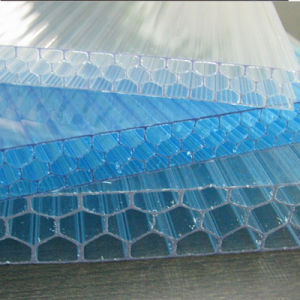 High Clarity Hollow Polycarbonate Sheet Honeycomb Sheet for Decoration pictures & photos
