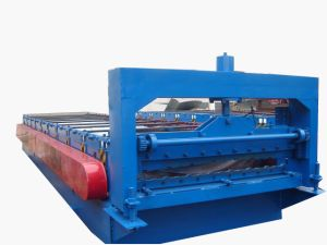 Glazed Roofing Tile Cold Roll Forming Machine Made in China pictures & photos