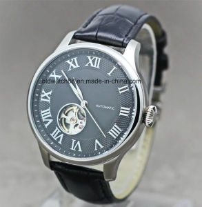 Man Leather Band Automatic Mechanical Watch with 316L Stainless Steel pictures & photos