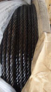 Black Oil Steel Wire Rope 6X19s+FC pictures & photos