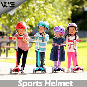 Children Yellow Moped Protective DOT Multi-Sport Bike Helmet pictures & photos