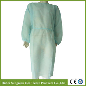 Disposable Non-Woven Isolation Gown with Elastic Cuffs pictures & photos