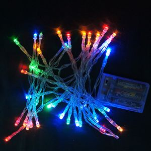 2m20LED/3m30LED/4m40LED/10m100LED Battery Operated Decorative Silver Wire String Light pictures & photos