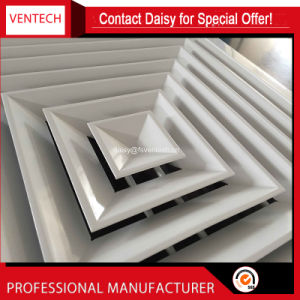 HAVC Systems Fixed Blades Iron Sheet Square Swirl Air Diffusers pictures & photos