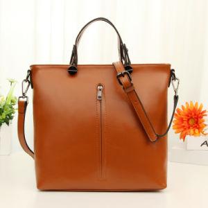 Ladies Genuine Cowhide Leather Crossbody Messenger Bags Fashion Shoulder Handbag pictures & photos